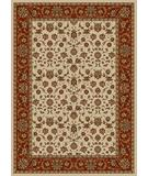 RugStudio presents Radici Usa Como 1600 Ivory-Brick Machine Woven, Good Quality Area Rug