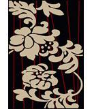 RugStudio presents Radici Usa Como Contemporary 1710 Black Machine Woven, Good Quality Area Rug
