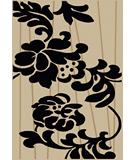 RugStudio presents Radici Usa Como Contemporary 1710 Ivory-Black Machine Woven, Good Quality Area Rug