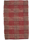 RugStudio presents Ragtime Blocks 64476 Red Rag Area Rug