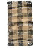 RugStudio presents Ragtime Booker Plaid 64477 Black/Khaki Rag Area Rug