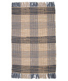RugStudio presents Ragtime Booker Plaid 64479 Denim Rag Area Rug