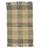 RugStudio presents Ragtime Booker Plaid 64481 Sage Rag Area Rug