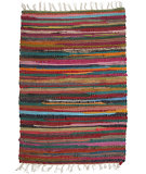 RugStudio presents Ragtime Calico Primary Rag Area Rug