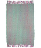 RugStudio presents Ragtime Calypso Sea Green Rag Area Rug