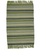RugStudio presents Ragtime Diamond Green Rag Area Rug
