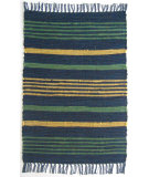 RugStudio presents Ragtime Pelham Stripe Blue Rag Area Rug