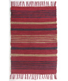 RugStudio presents Ragtime Pelham Stripe Red Rag Area Rug