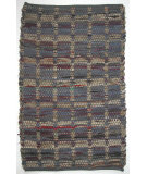 RugStudio presents Ragtime Squares 64534 Blue Rag Area Rug