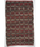 RugStudio presents Ragtime Squares Red Rag Area Rug