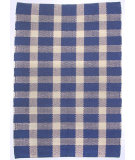 RugStudio presents Ragtime Tavern Check Blue Rag Area Rug