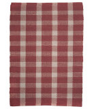 RugStudio presents Ragtime Tavern Check Red Rag Area Rug