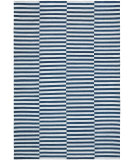 RugStudio presents Ralph Lauren Cameron Stripe RLR5315B Indigo Chambray Flat-Woven Area Rug