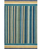 RugStudio presents Ralph Lauren Martine Stripe RLR6016B Beach Comber Hand-Hooked Area Rug