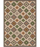 RugStudio presents Regence Home Wellington Ikat Earth Machine Woven, Good Quality Area Rug