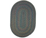RugStudio presents Rhody Rugs Blossom BL67 Teal Braided Area Rug