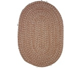 RugStudio presents Rhody Rugs Duet D433 Sandstone Braided Area Rug