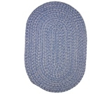 RugStudio presents Rugstudio Sample Sale 18716R Blue Bonnet Braided Area Rug
