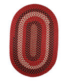 RugStudio presents Rhody Rugs Manhattan Ma44 Red Brick Braided Area Rug