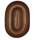 RugStudio presents Rhody Rugs Mayflower Mf33 Brown Fudge Braided Area Rug