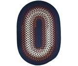 RugStudio presents Rhody Rugs Rio RI17 Navy Braided Area Rug