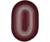RugStudio presents Rhody Rugs Rio RI47 Burgundy Braided Area Rug