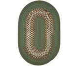 RugStudio presents Rhody Rugs Rio RI67 Olive Braided Area Rug