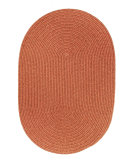 RugStudio presents Rhody Rugs Solid-Wool S108 Terra Cotta Braided Area Rug