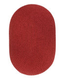 RugStudio presents Rhody Rugs Solid-Wool S120 Scarlet Braided Area Rug
