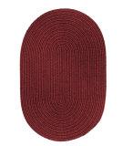 RugStudio presents Rhody Rugs Solid-Wool S157 Red Wine Braided Area Rug