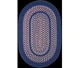 RugStudio presents Rhody Rugs Tapestry TA12 Sailor Blue Braided Area Rug