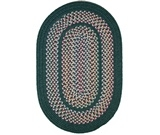 RugStudio presents Rhody Rugs Tapestry TA22 Hunter Green Braided Area Rug