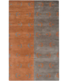 RugStudio presents Rizzy Anna Redmond Ad2531 Grey/Orange Hand-Tufted, Good Quality Area Rug