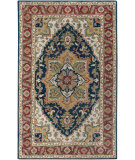 RugStudio presents Rizzy Camden Cd2994 Navy/Red Hand-Tufted, Good Quality Area Rug