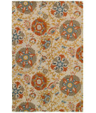 RugStudio presents Rizzy Camden Cd8280 Beige/Gray Hand-Tufted, Good Quality Area Rug