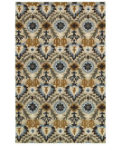 RugStudio presents Rizzy Camden Cd8284 Ivory/Blue Hand-Tufted, Good Quality Area Rug