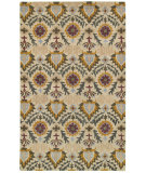 RugStudio presents Rizzy Camden Cd8285 Ivory/Gold Hand-Tufted, Good Quality Area Rug