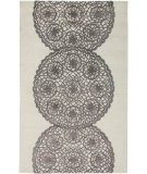RugStudio presents Rizzy Dimensions Di2456 White/Gray Hand-Tufted, Good Quality Area Rug
