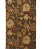 RugStudio presents Rizzy Floral FL-1478 Brown Hand-Tufted, Good Quality Area Rug