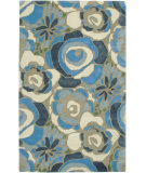 RugStudio presents Rizzy Floral Fl3146 Blue Hand-Tufted, Good Quality Area Rug