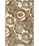 RugStudio presents Rizzy Floral Fl3147 Brown Hand-Tufted, Good Quality Area Rug