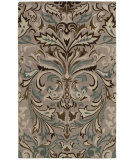 RugStudio presents Rizzy Floral Fl8125 Light Gray Hand-Tufted, Good Quality Area Rug