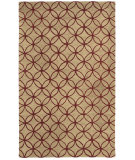 RugStudio presents Rizzy Opus Op8090 Beige/Red Hand-Tufted, Good Quality Area Rug