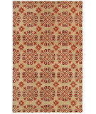 RugStudio presents Rizzy Opus Op8117 Beige/Red Hand-Tufted, Good Quality Area Rug
