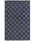 RugStudio presents Rizzy Opus Op8120 Blue/Ivory Hand-Tufted, Good Quality Area Rug