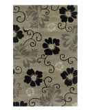 RugStudio presents Rizzy Pandora PR-1113 Pewter Hand-Tufted, Good Quality Area Rug