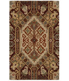 RugStudio presents Rizzy Southwest Su8105 Beige/Red Hand-Tufted, Better Quality Area Rug