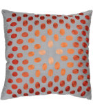 RugStudio presents Rizzy Pillows T03070 Gray / Orange