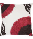 RugStudio presents Rizzy Pillows T03424 Pink / Brown