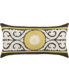 RugStudio presents Rizzy Pillows T03425 Brown / Yellow